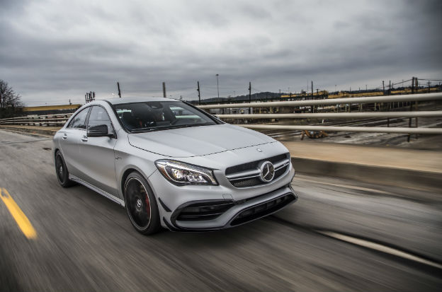 front view of a silver 2019 Mercedes-Benz CLA Coupe