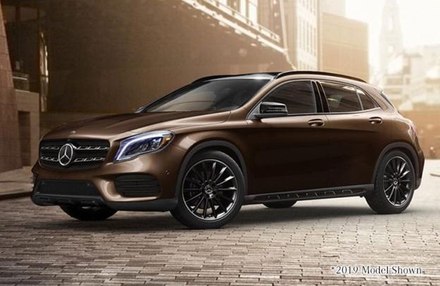 Cocoa Brown metallic 2020 Mercedes-Benz GLA.