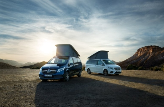 Mercedes-Benz Marco Polo camper vehicles out in a desert