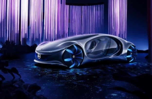 Mercedes-Benz AVTR concept in a mystical alien forest
