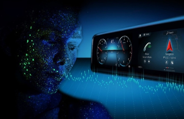 Artistic representation of virtual MB voice assistant