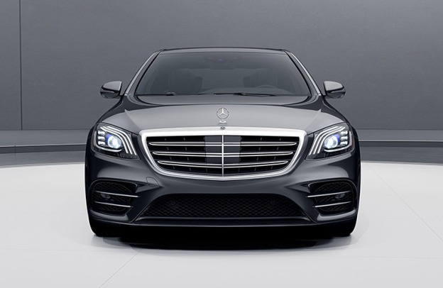 Head-on view of a 2020 S-Class