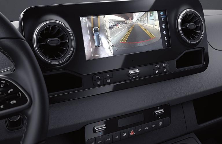 Rear view camera screen inside