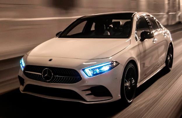 2021 Mercedes-Benz A-Class zipping along a road