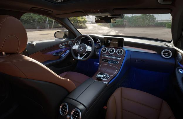 Interior cockpit of 2021 mercedes-Benz C 300 Sedan